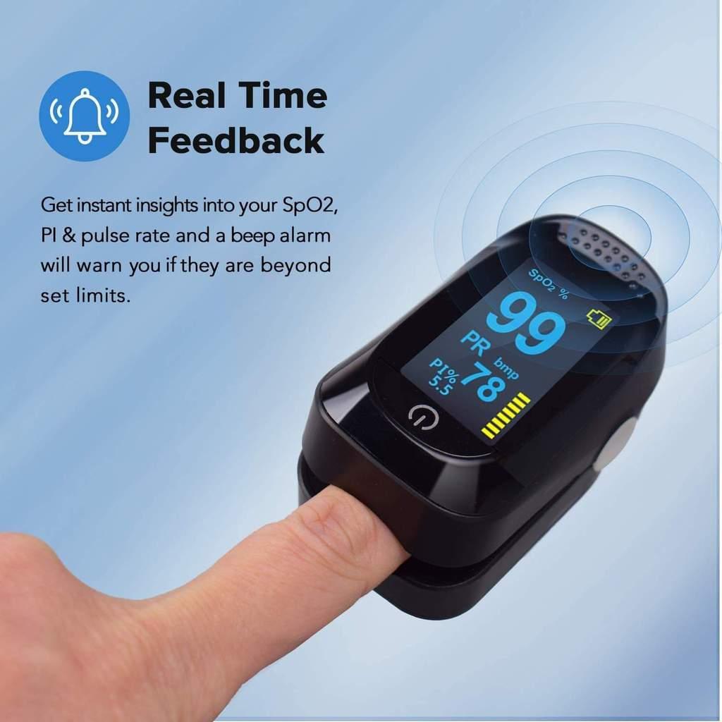 Fingertip Pulse Oximeter & Blood Oxygen Saturation Monitor Pulse Oximeters Ober Health 5