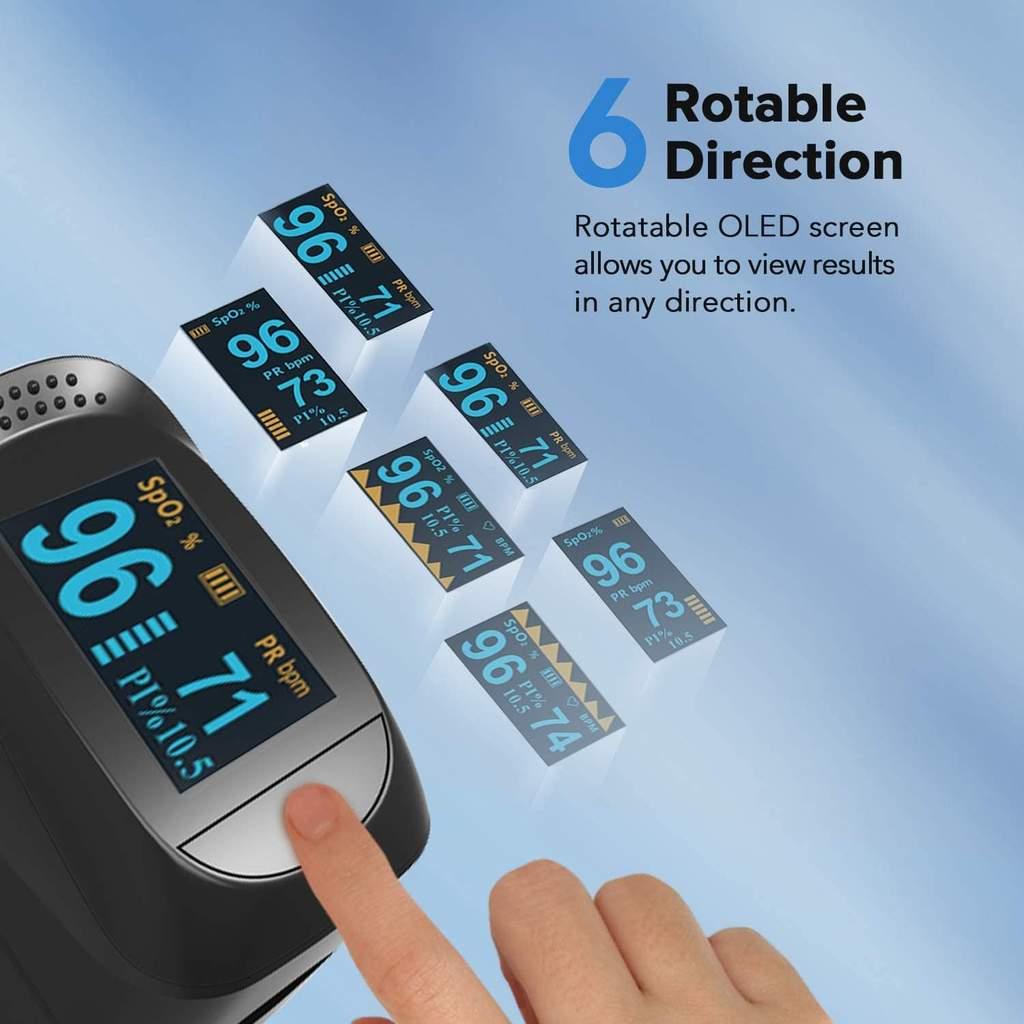Fingertip Pulse Oximeter & Blood Oxygen Saturation Monitor Pulse Oximeters Ober Health 6