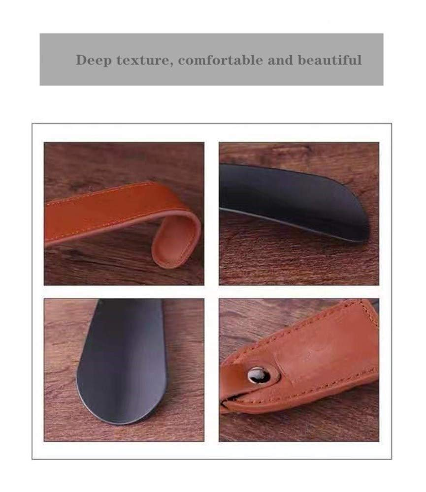 Long Handle Shoe Horn and Travel Shoe Horn with Leather Strap Dressing Aids Ober Health 2