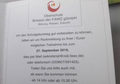 Oberschule Briesen_Countdown zum 10 Schulgeburtstag_Oktober 2019_4
