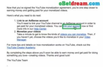 How to link adsense to youtube account