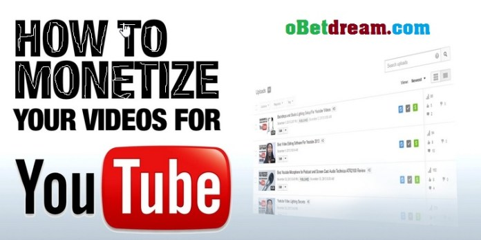How to monetize youtube video