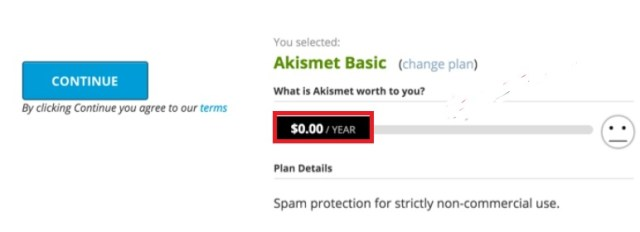 free api key of akismet plugin