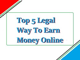 top 5 way to make money online