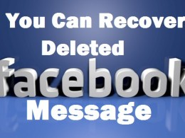 You can recover deleted facebook message ,photo,video