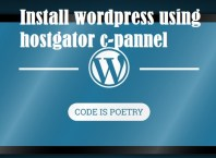 install wordpress using hostgator hostingcpannel