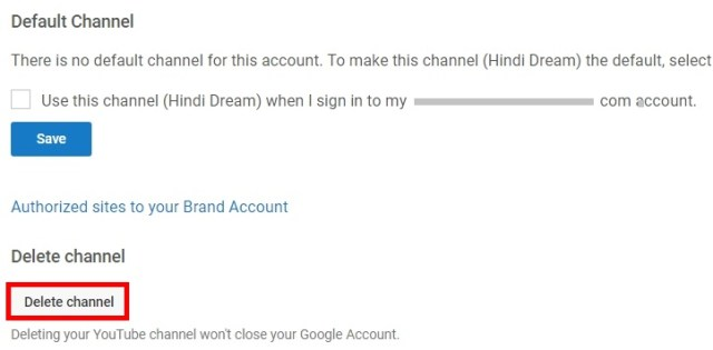 how to delete youtube channel step by step