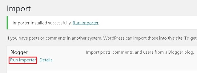 importer blogger to wordpress blog