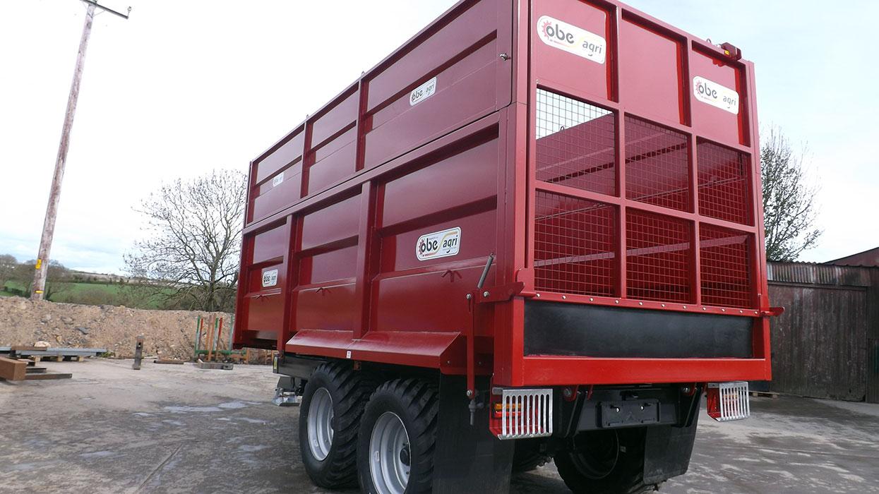 Red monocoque trailer