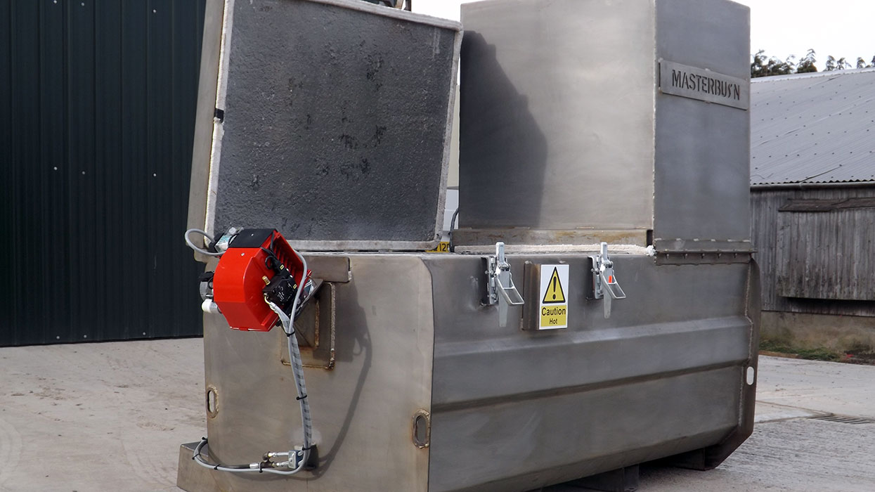 MB450C stainless steel incinerator
