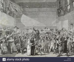 What caused the Tennis Court Oath?