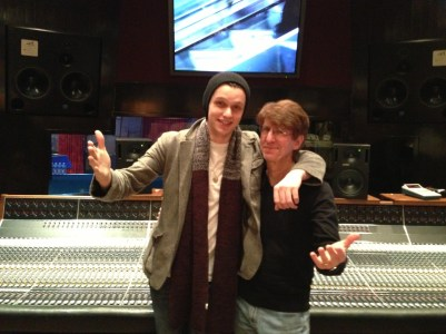 Obie, and Patrick recording in Studio D at Blackbird Studios in Nashville, TN