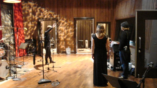 Recording in Studio D at Blackbird Studios, Nashville TN