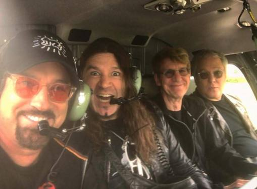 Getting to the show in a chopper. Thanks Shanks.