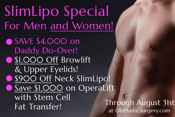 August SlimLipo Specials and More at Obi Plastic Surgery