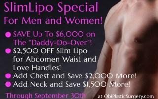 SlimLipo Laser Lipo Specials at Obi Plastic Surgery