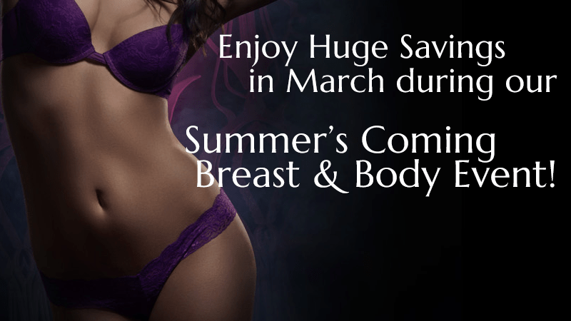 Breast and Body Event Plastic Surgery Specials at Obi Plastic Surgery