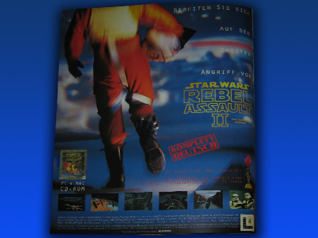 Rebel Assault II: The Hidden Empire ad from a the German Star Wars Fan Club Magazine.