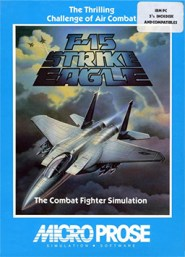 F-15 Strike Eagle by Microprose was among the first flight simulators ever released on home computers. Their wire-frame worlds were computed in real-time and afforded players a degree of freedom unparalleled by sprite-based releases of the time.