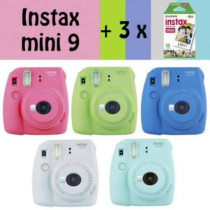 Pack Fujifilm Instax mini 9 + 30 photos