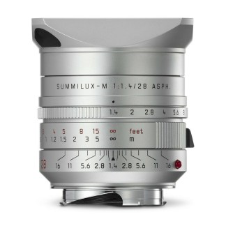 Leica M Summilux 28mm silver para face