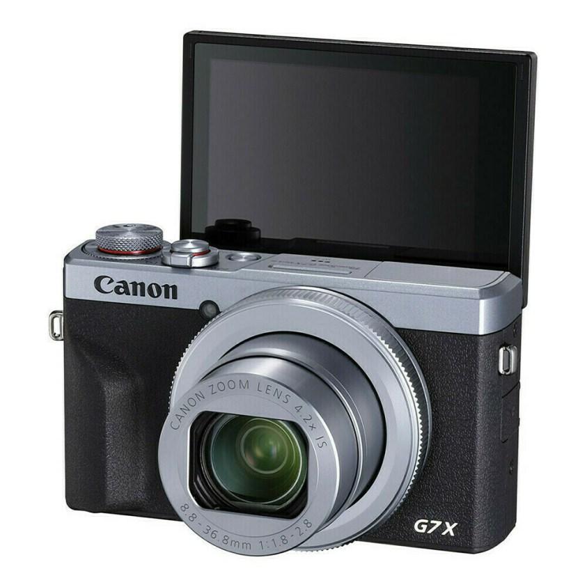 Canon PowerShot G7X mark III Silver - face écran