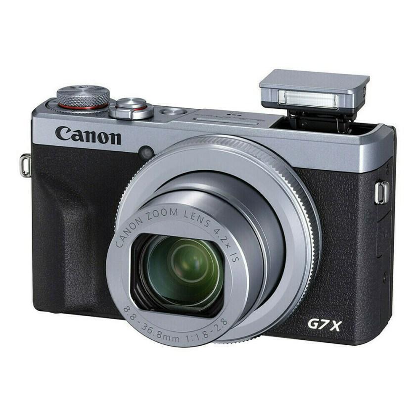 Canon PowerShot G7X mark III Silver - face flash