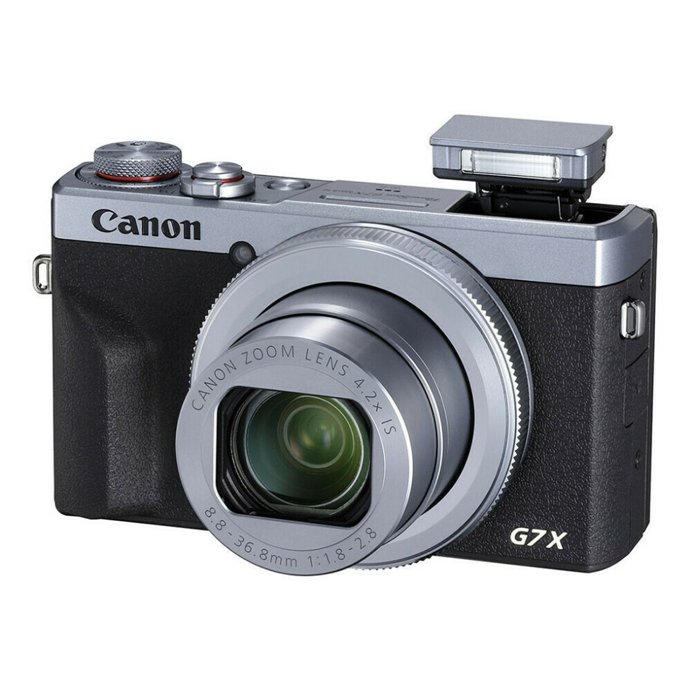 Canon PowerShot G7X mark III Silver - face flash