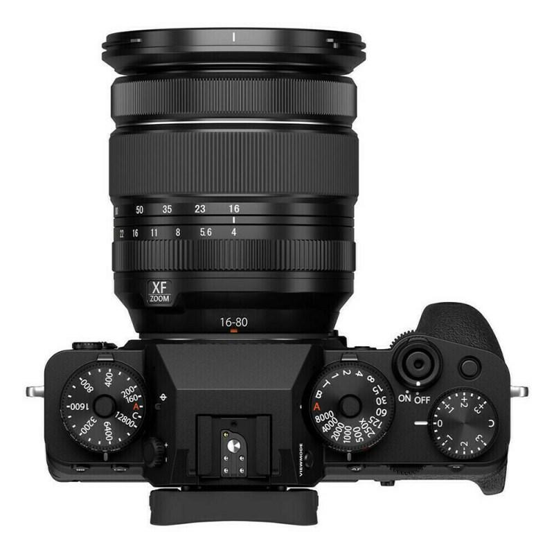Fujifilm X-T4 + XF 16-80 - Noir - dessus