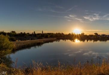 Coucher de soleil sur Saint Sylvain d'Anjou (Maine et Loire)4