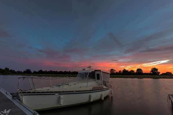 Ecouflant coucher de soleil sur la sarthe 6