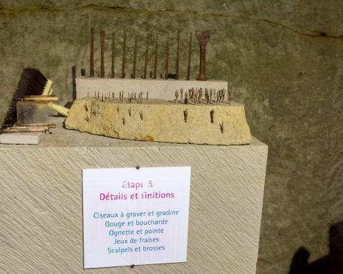 Pierre et lumière-Les outils pour chaque stade de la sculpture (1)