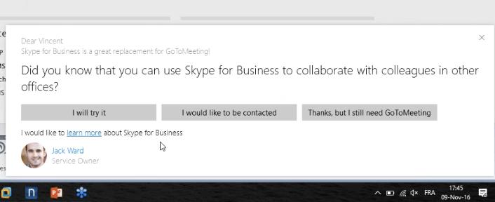 Nexthink V6.7 skype