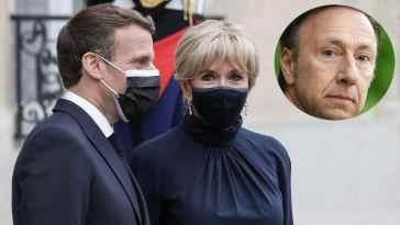 Brigitte Macron, en robe bleu lavande et courte, elle fait sensation aux cotés de Stéphane Bern