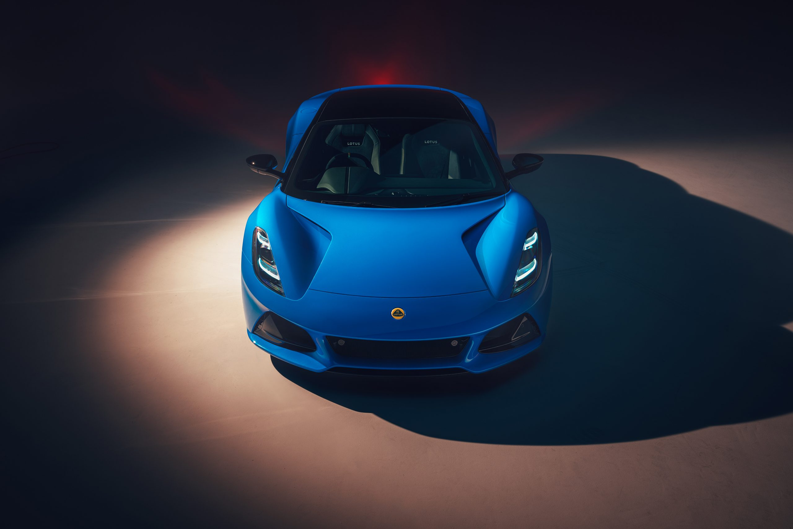 Front view of the Lotus Emira