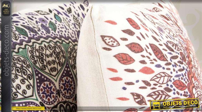 2 Coussins Dcoratifs En Tissu Motifs Mandalas
