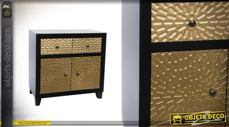 commode a portes collection golden eye 80 cm de large