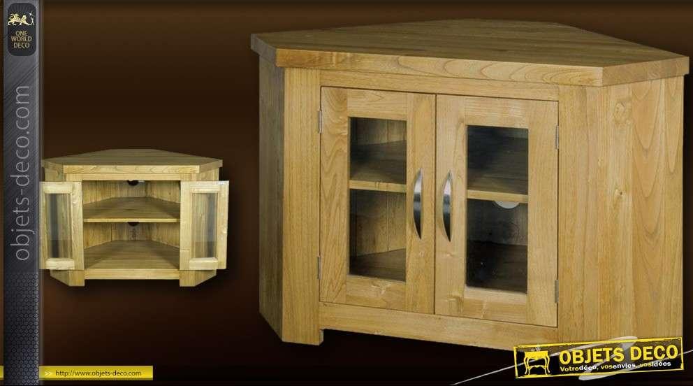 meuble tv d angle en bois massif