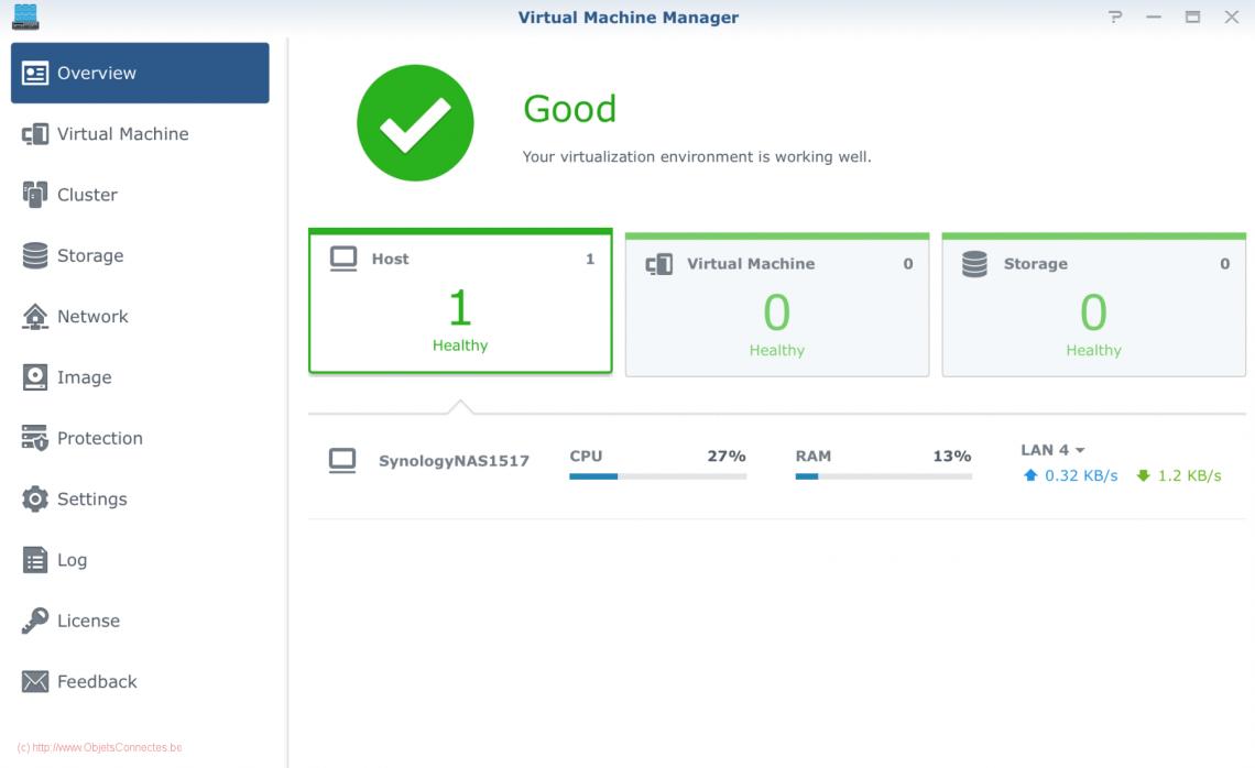 Ecran principal de Virtual Machine Manager