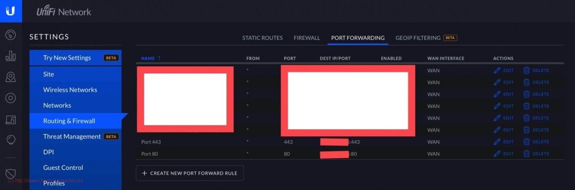 Ouverture des ports sur DreamMachine PRO