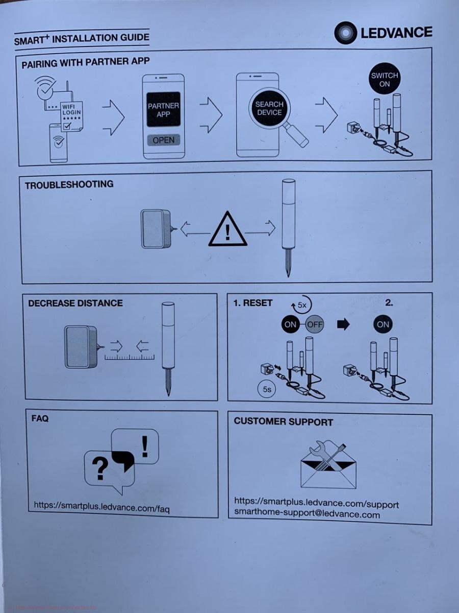 Ledvance Smart+ Garden Pole - Plan de montage