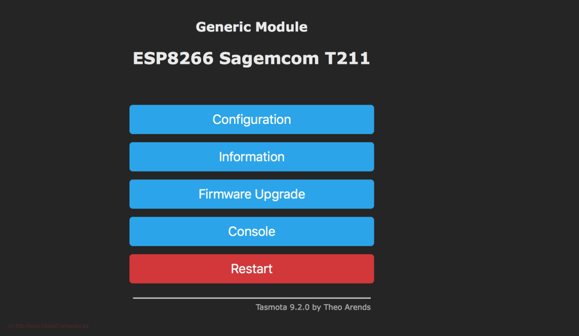ESP8266-Tasmota-Home-Page