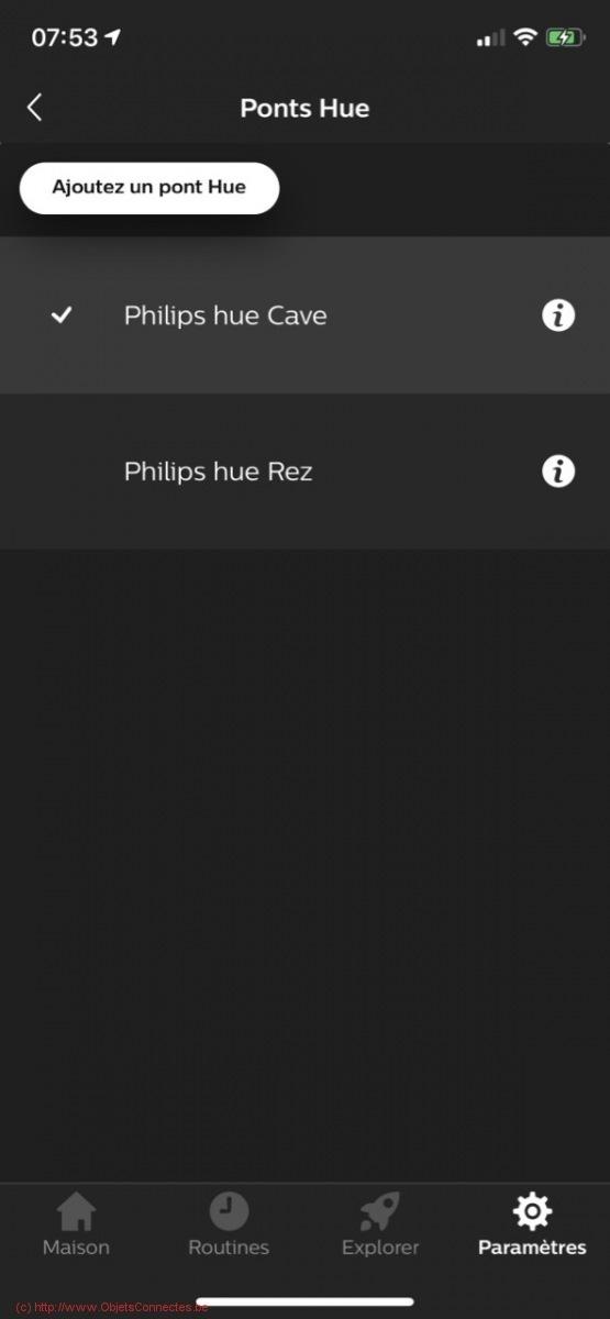Philips Hue et deux ponts - Deux ponts