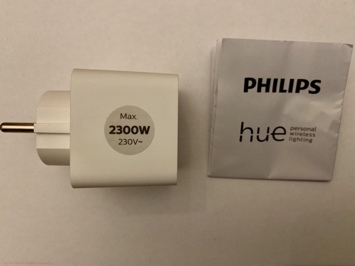 Prise connectée Philips Hue - Le contenu de la boîte