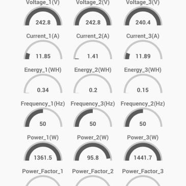 Trois capteurs PZEM-004T pour mesurer la consommation électrique triphasée dans Jeedom