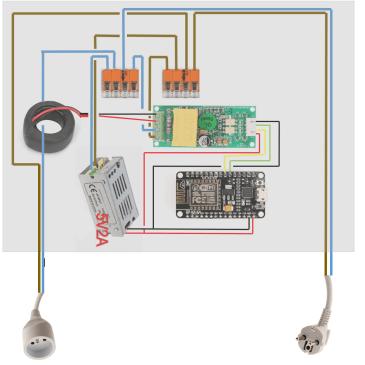 Un wattmètre portable pour Jeedom avec Espeasy and PZEM-004T.