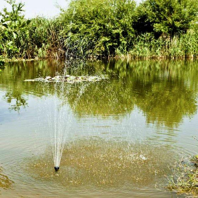 pompe solaire fontaine jet d eau de bassin 20wc 1360l h rado 2