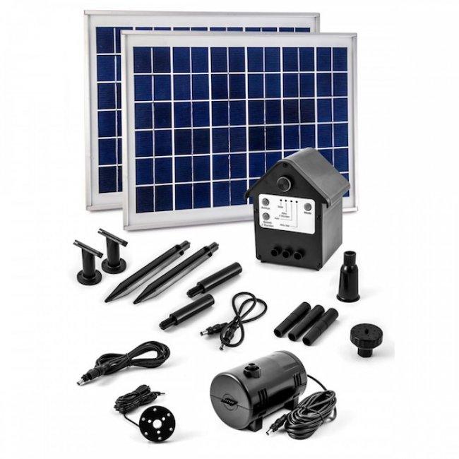 pompe fontaine solaire jet d eau batterie led 900l h 20 wc nsp3z