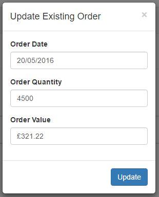 update orders
