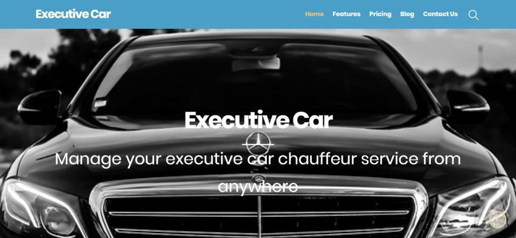 executive car web site